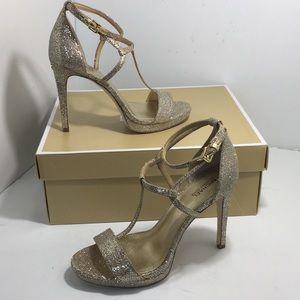 Michael Kors Simone Sandals Silver Sand / Glitter